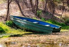 Wooden Boat in a sanctuary Stock Images