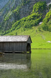 Wooden Boat Shed in Obersee Stock Images