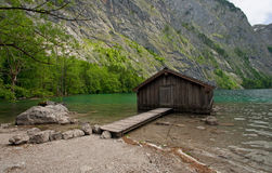 Wooden Boat Shed in Obersee Stock Photography