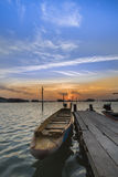 Wooden boat at Songkhla lake Royalty Free Stock Image