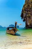 Wooden boat in the Thailand, Phuket Royalty Free Stock Photo