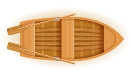 Wooden Boat Top View Vector Illustration Royalty Free Stock Photography