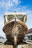 Wooden boat under repairing Royalty Free Stock Photos