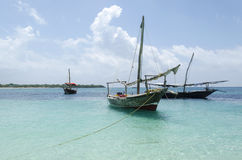 Wooden boat in Zanzibar Royalty Free Stock Photo