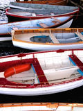 Wooden Boats. Hand-made Wooden Boats with colourful paint, in Tasmania, Australia Royalty Free Stock Image