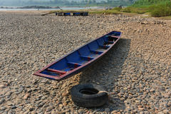 Wooden boats on the beach Royalty Free Stock Photo