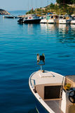 Wooden boats and fishing boats in Makarska. Croatia Royalty Free Stock Photography