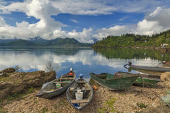 Wooden boats on the lake Royalty Free Stock Photography