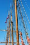 Wooden boats mast Royalty Free Stock Photo