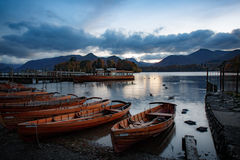 Wooden boats onshore Royalty Free Stock Photo