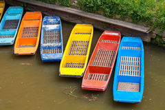 Wooden boats. Oxford, England Royalty Free Stock Photo
