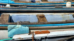 Wooden boats in pier Stock Photo