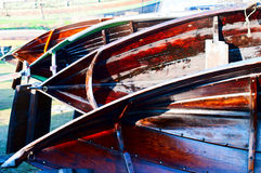 Wooden boats restoration Stock Images