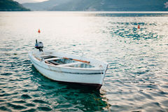 Wooden boats on the water. In the Bay of Kotor in Montenegro. Ma Royalty Free Stock Photos