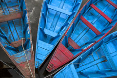 Wooden boats on the water Royalty Free Stock Photos