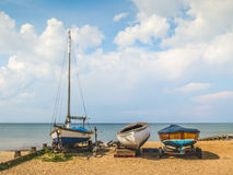 Wooden boats, Whitstable, Kent, UK Stock Photos
