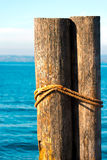 Wooden Bollards - Garda Lake Italy Royalty Free Stock Photo