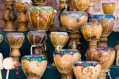 Wooden bongos Stock Photography