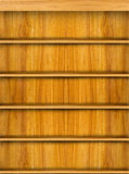 Wooden book shelf Royalty Free Stock Image