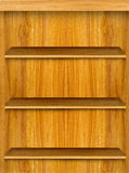Wooden Book Shelf Royalty Free Stock Images