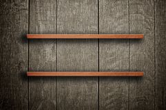 Wooden book shelf Stock Photography