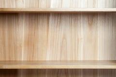 wooden book shelf Royalty Free Stock Photos