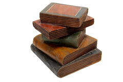 Wooden Books Stock Photography