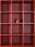 Wooden bookshelves Royalty Free Stock Photography