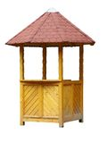 Wooden Booth. Isolated Wooden Booth Stock Photos