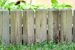 Wooden border in garden Royalty Free Stock Photography