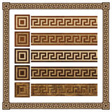 Wooden border ornament meandr, design  parquet floor, seamless texture Royalty Free Stock Photos