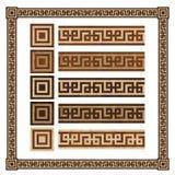 Wooden border ornament meandr, design  parquet floor Stock Image