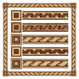 Wooden border ornament tape, design  parquet floor Stock Image