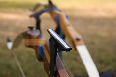 Wooden bow Stock Image