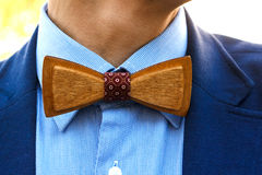 Wooden bow tie Royalty Free Stock Images