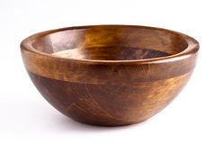 Wooden bowl. Manufactured wooden bowl empty. kitchen utensil stock photo
