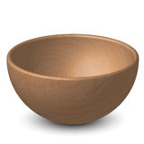 Wooden bowl Stock Photography