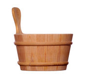 Wooden bowl Stock Photos