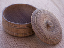 Wooden bowl. Stock Photo