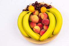 Wooden Bowl of Fruits Royalty Free Stock Photography