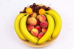 Wooden Bowl of Fruits Royalty Free Stock Photo