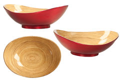 Wooden Bowl Isolated on White Royalty Free Stock Images