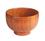 Wooden bowl Stock Photo