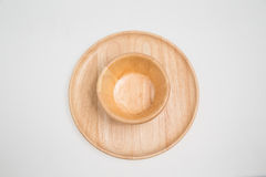 Wooden bowl. Wooden isolated on white nobody Royalty Free Stock Photo