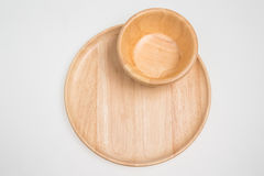 Wooden bowl. Wooden isolated on white nobody Royalty Free Stock Image