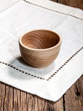 Wooden bowl. Stock Photography