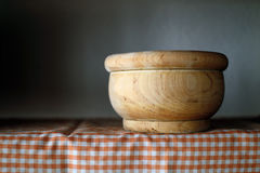 Wooden bowl Royalty Free Stock Photography