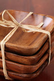 Wooden bowls royalty free stock photography