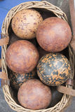 Wooden bowls Stock Images