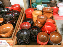 Wooden bowls Royalty Free Stock Photo